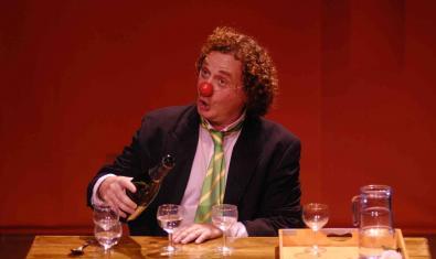 El clown Gabriel Chamé en un momento del espectáculo