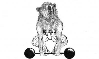 El dibuix d'una óssa aixecant uns pesos serveix de cartell per anunciar la proposta
