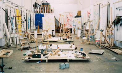 Una imatge de l'estudi dels artistes.