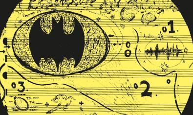 Una partitura amb un rat-penat dibuixat a sobre