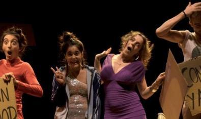 Cuatro de los intérpretes de la compañía José y sus hermanas