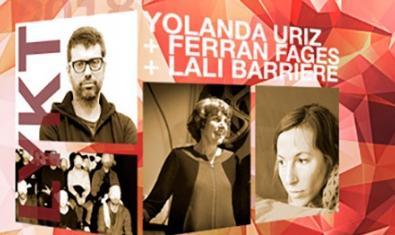 El cartell que anuncia l'activitat i que inclou imatges dels tres artistes implicats