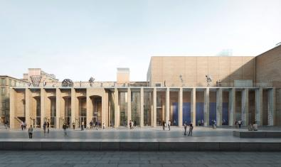 Aspecte del futur MACBA segons el projecte 'Galeria'