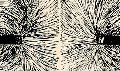 Los polos del imán crean fuerzas magnéticas.
