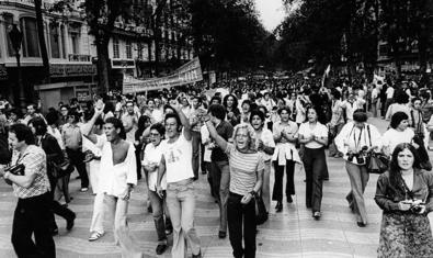 An image of the 1977 demonstration