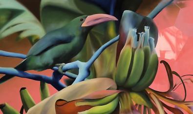 Detalle de una de las obras de Manu Muñoz