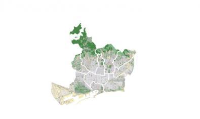 Mapa de Barcelona per districtes