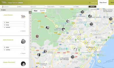 El Mapa Literari Català permet navegar pels espais escrits de Catalunya