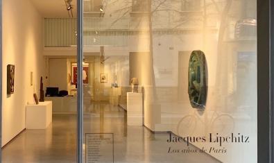 L'entrada a la galeria durant la darrera exposició física que ha acollit