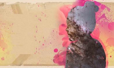 El dibuix mig abstracte d'un perfil de dona serveix com a cartell per anunciar el concert