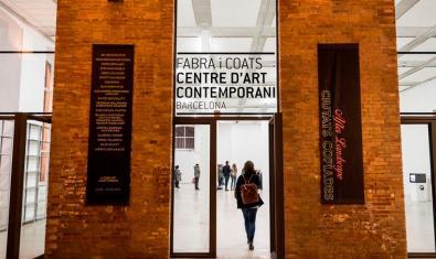 Una imagen de la entrada al Centre d'Art Contemporani de Fabra i Coats