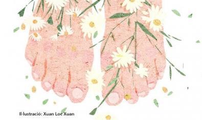 Una il·lustració que mostra uns peus descalços coberts de flors és la imatge de l'activitat