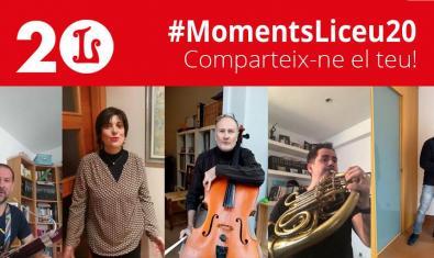Cartell de la campanya #MomentsLiceu20