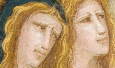Detalle de una de las pinturas presentes en el Monasterio de Pedralbes