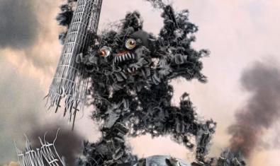 Una de les pintures de monstres japonesos que formen part de l'exposició