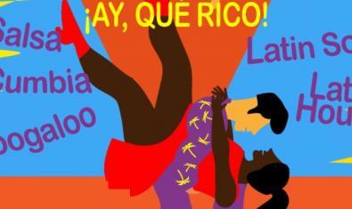 Cartell de l'esdeveniment amb el dibuix d'uns ballarins llatins