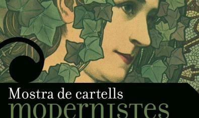 Cartell que anuncia l'exposició amb el dibuix d'estil modernista d'una dona