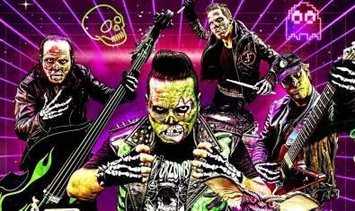 Un dibuix d'una banda de música formada per zombies anuncia l'actuació que es podrà veure a La Deskomunal