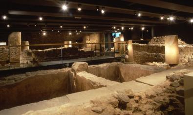 Parte del yacimiento romano del MUHBA Plaça del Rei