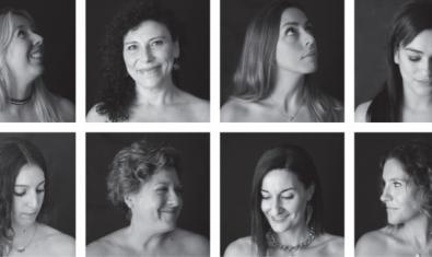 Collage amb les fotografies d'algunes de les artistes participants