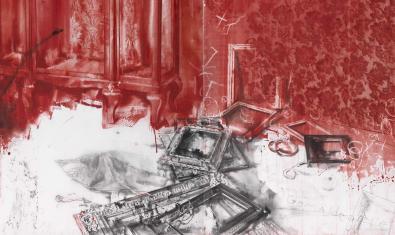Fragmento de la obra Museo robado que puede verse en la exposición