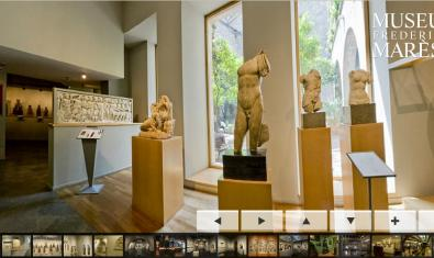 Aspecto del museo virtual Frederic Marès
