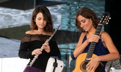 Neus Plana (esquerra) i Maria Camahort