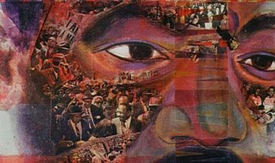 Detall d''I am a man', de Norman Narotzky, obra present a l'exposició