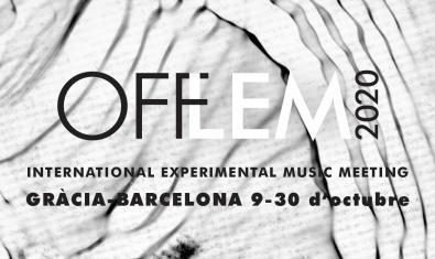 El cartel del festival es obra de Quim Díaz sobre la fotografía de un material textil de Joan Teixidor