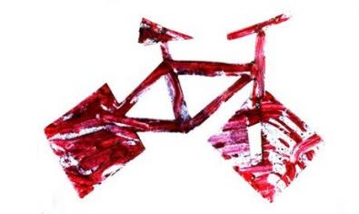 Una bicicleta con ruedas cuadradas sirve de imagen a la celebración del décimo aniversario
