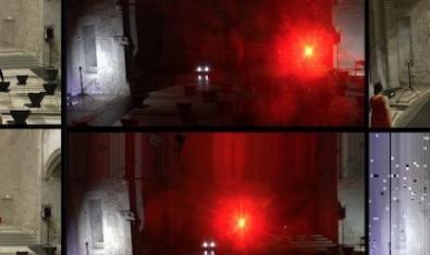 Algunas de las imágenes que se pueden ver en la proyección y performance combinando acciones reales y filmadas