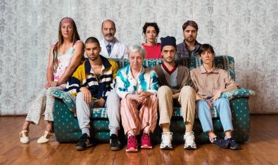 Foto de família dels Coleman que ocupen aquests dies el Teatre Romea