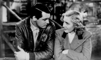 Cary Grant y Rita Hayworth en 'Sólo los ángeles tienen alas'