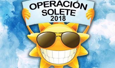 El dibujo de un sol sonriente y con gafas oscuras sirve de cartel para anunciar las actividades