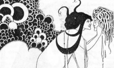Una ilustración del siglo XIX que acompañaba el texto de Oscar Wilde en que se basa la ópera Salomé