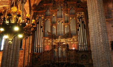The organ of the Cathedral of Barcelona
