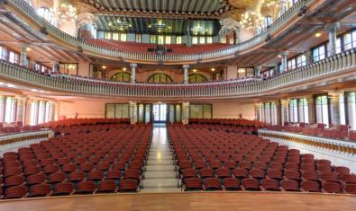 Aspecte del Palau de la Música des de l'escenari