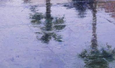 Vista parcial de l'obra 'Palmeres invertides', de Carlos Díaz