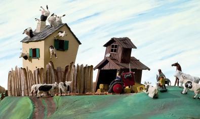 Algunos de los habitantes de una granja idílica... y delirante.
