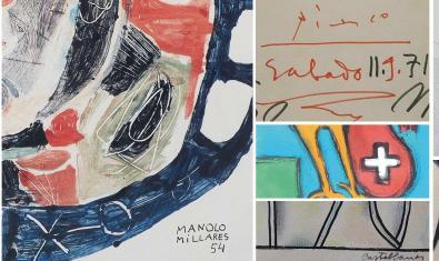 Collage amb fragments de les diverses obres que es mostren a l'exposició