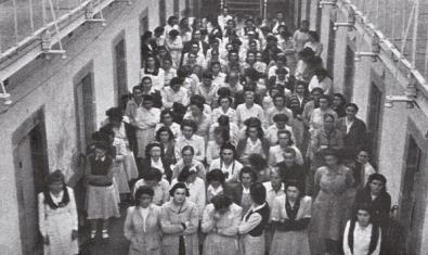 Dones republicanes a la presó central de Segòvia l'any 1955