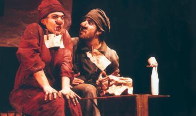 Els dos actors a l'escenari
