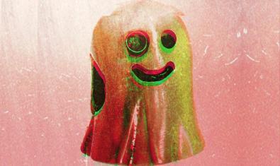 Un fantasma somrient que al·ludeix al títol del nou disc de la banda serveix d'imatge per anunciar el concert