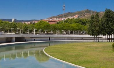 El parc de la Trinitat, on tindrà lloc la final de la Roda de Monòlegs