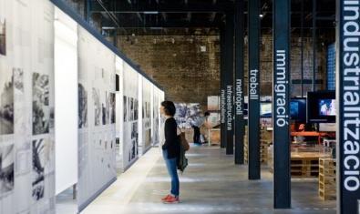 Una imatge de l'interior d'aquest espai expositiu del Poblenou