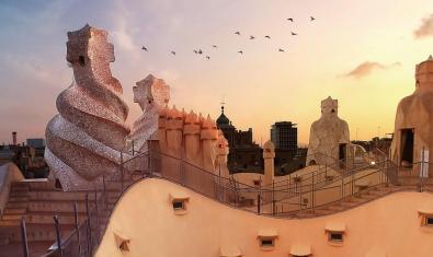 El terrat de La Pedrera
