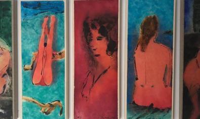 Algunos de los desnudos de Perico Pastor que pueden verse en la exposición