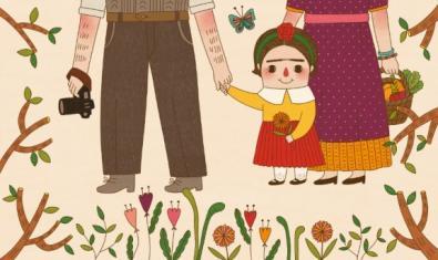 Il·lustració d'un llibre sobre Frida Kalho