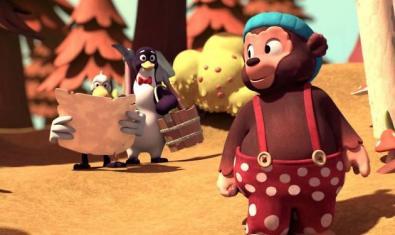 Fotograma de la pel·lícula amb els animals protagonistes