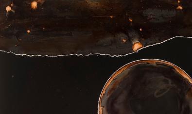 Una de las imágenes abstractas que se pueden ver en la exposición